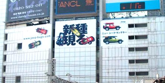 自動車メーカー×ビルボード