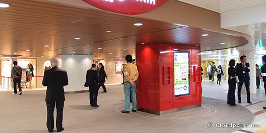 駅ナカの企画サイネージ