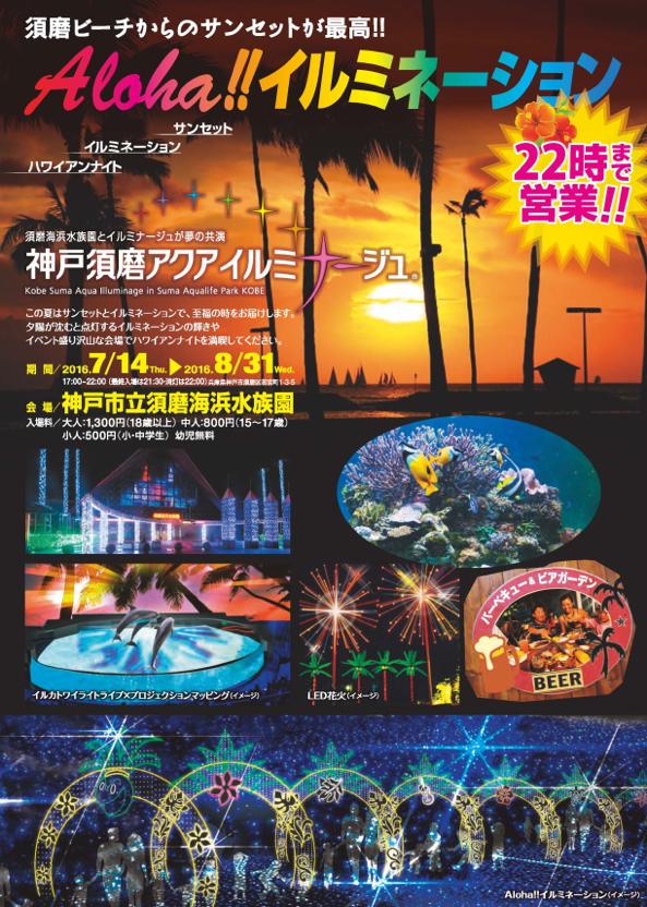 神戸須磨海兵水族園 Aloha!!イルミネーション01