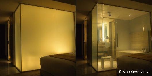 高級ラグジュアリーホテルの浴室に採用