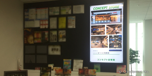 日本KFCホールディングス株式会社 社長室サイネージ