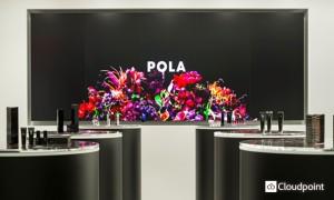 POLA クリスタ長堀店 壁面サイネージ02