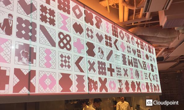 SMT TOKYO:レストラン内の大画面プロジェクター演出