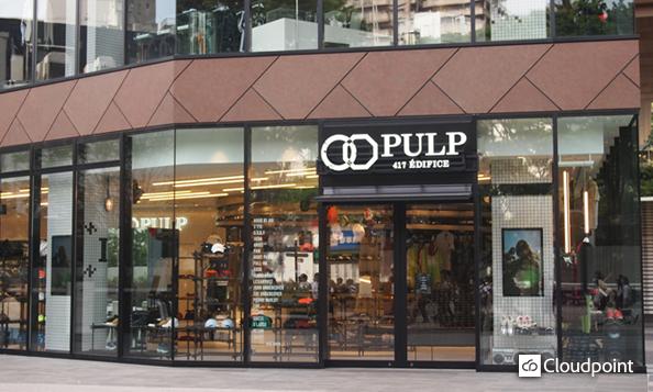 渋谷キャスト PULP 417 ÉDIFICE 演出サイネージ