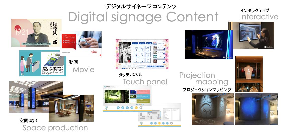 デジタルサイネージコンテンツの種類について