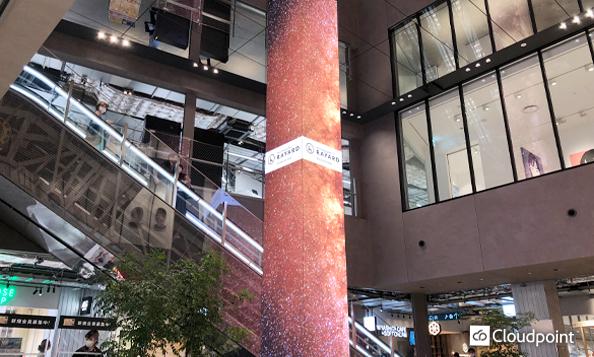 施設のシンボル、全方向から視認可能なLEDビジョンタワーを設置