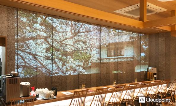 茨城県の魅力と四季を感じる動画コンテンツを制作 大画面のプロジェクター投影で雄大な空間を演出